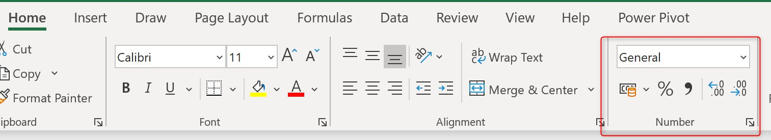 Cells formats in Excel