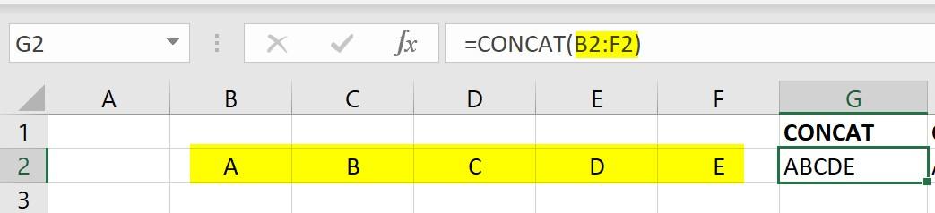 CONCAT function